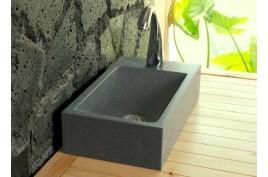 Lave mains en pierre 40x23 granit véritable NEWPORT