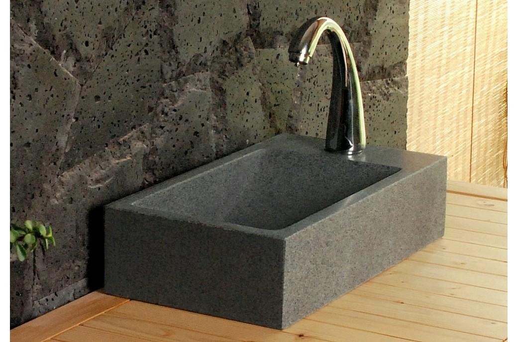lave mains en pierre newport 40x23cm granit v ritable. Black Bedroom Furniture Sets. Home Design Ideas