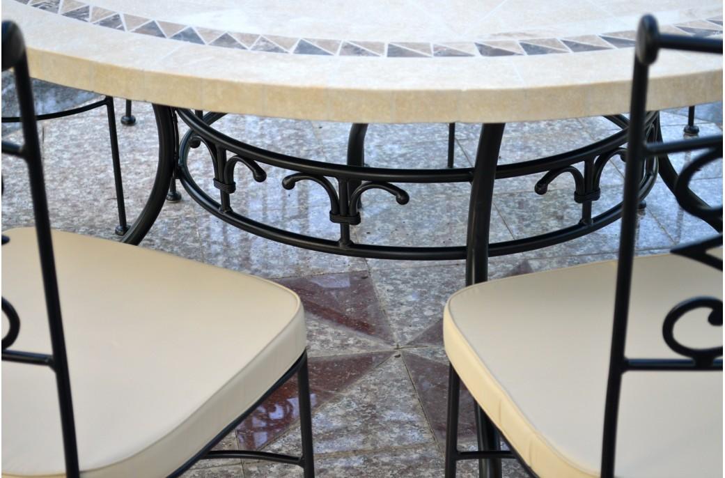 Emejing table de jardin ronde grand diametre pictures - Grande table ronde de jardin ...