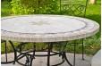 Table de jardin pierre ronde mosaique marbre 90-125-160 MEXICO