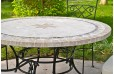Table de jardin ronde pierre mosaïque marbre 90-125-160 MEXICO