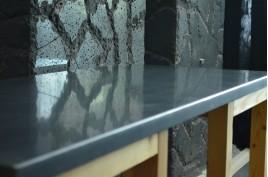 Plan de travail Granit Noir luxe sous vasques prêt à l'emploi SIRIUS