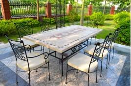 Tables de jardin en mosaique de marbre, jardin – Living\'ROC - Living\'ROC