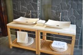 Vasque salle de bain en pierre 60X40 marbre Égyptien - ESNA