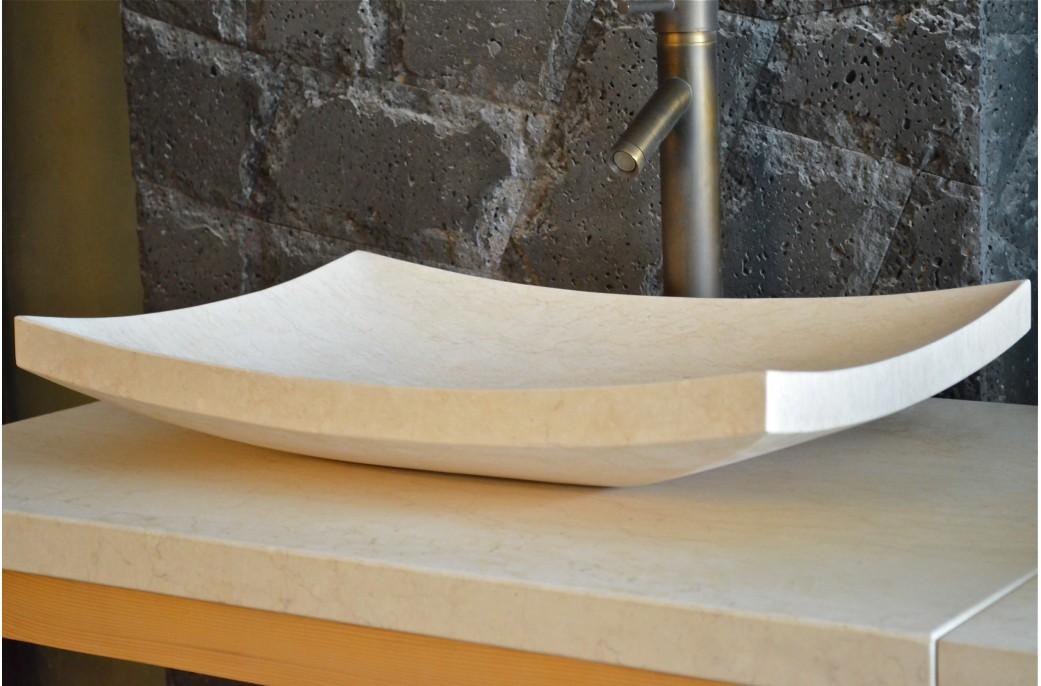 vasque en pierre poser esna 60x40cm design en marbre. Black Bedroom Furniture Sets. Home Design Ideas
