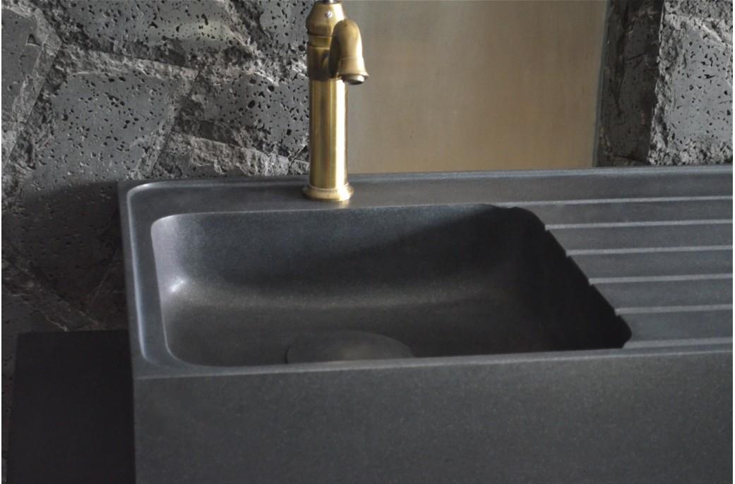 vier en pierre pour cuisine norway shadow granit grand luxe 90x60cm taill dans la masse. Black Bedroom Furniture Sets. Home Design Ideas
