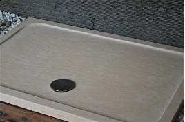 Receveur de douche en marbre d'Égypte 120x80 PALAOS SUNNY