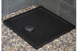 Bac à douche taillé dans le granit noir 80x80 CORAIL SHADOW