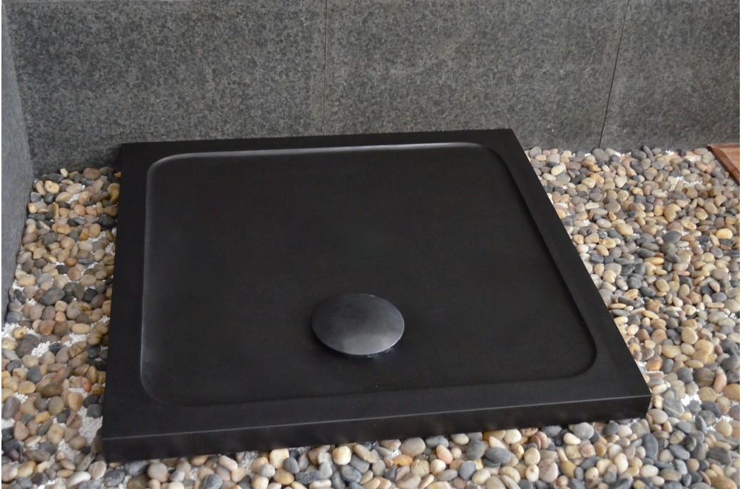 receveur de douche noir 80x80