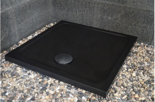 Receveur de douche 90x90 pierre noire Granite SERENA SHADOW
