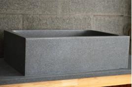 Évier en pierre cuisine sous plan granit véritable 70x47 WALABI