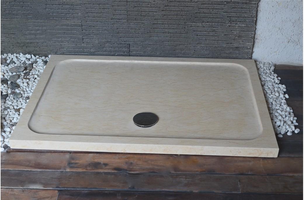 spacium sunny receveur de douche en marbre d 39 gypte 140x80cm living 39 roc. Black Bedroom Furniture Sets. Home Design Ideas