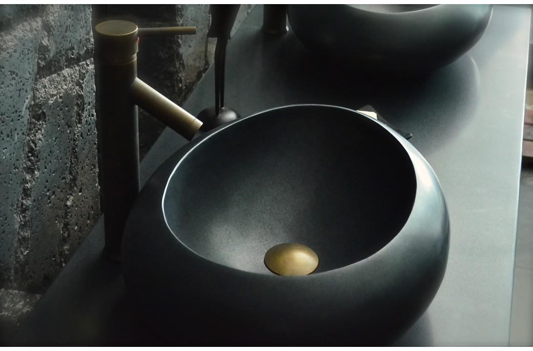 vasque en pierre pas cher Vasque pierre granit noir absolu luxe - COCOON SHADOW