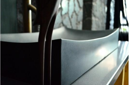 Vasque salle de bain pierre noire 70x40 Black granit - TOJI SHADOW