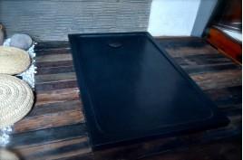 Receveur de douche en pierre 180x90 granit noir DALAOS SHADOW