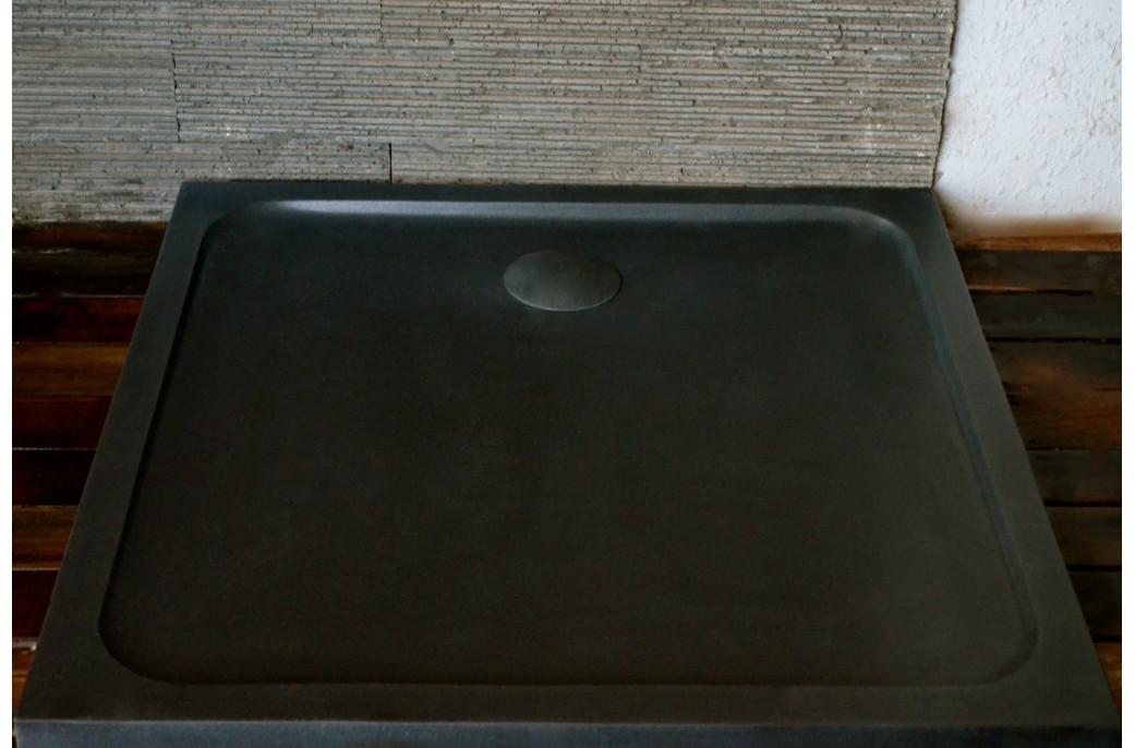 receveur de douche squarium 100x100cm en pierre v ritable extra plat living 39 roc. Black Bedroom Furniture Sets. Home Design Ideas