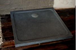 Bac de douche en granit 100x100 pierre extra plat SQUARIUM