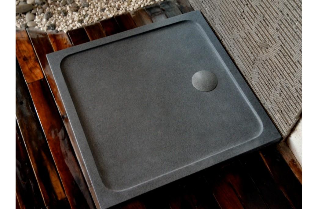 Receveur de douche SQUARIUM 100x100cm en pierre véritable extra plat