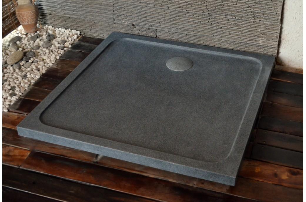 receveur de douche squarium 100x100cm en pierre v ritable extra plat. Black Bedroom Furniture Sets. Home Design Ideas