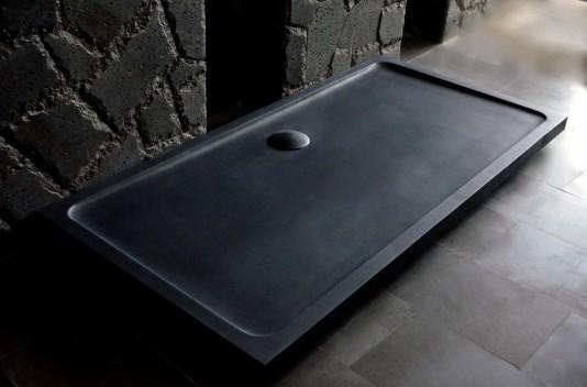 Receveur de douche en pierre 180x90 Granit noir - DALAOS SHADOW