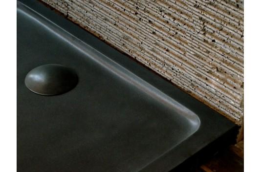 Receveur de douche en pierre 120X90 granit noir - RUBIX SHADOW