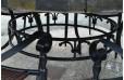 Table de jardin ronde mosaïque d'ardoise 125-160 OCEANE