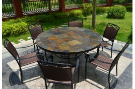 Tables de jardin en mosaique d\'ardoise, jardin – Living\'ROC