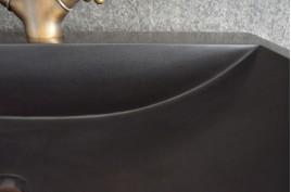 Vasque salle de bain à poser pierre Basalte noir PEGASUS BLACK