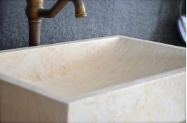 Vasque en pierre naturelle marbre d'Égypte 60 TORRENCE SUNNY