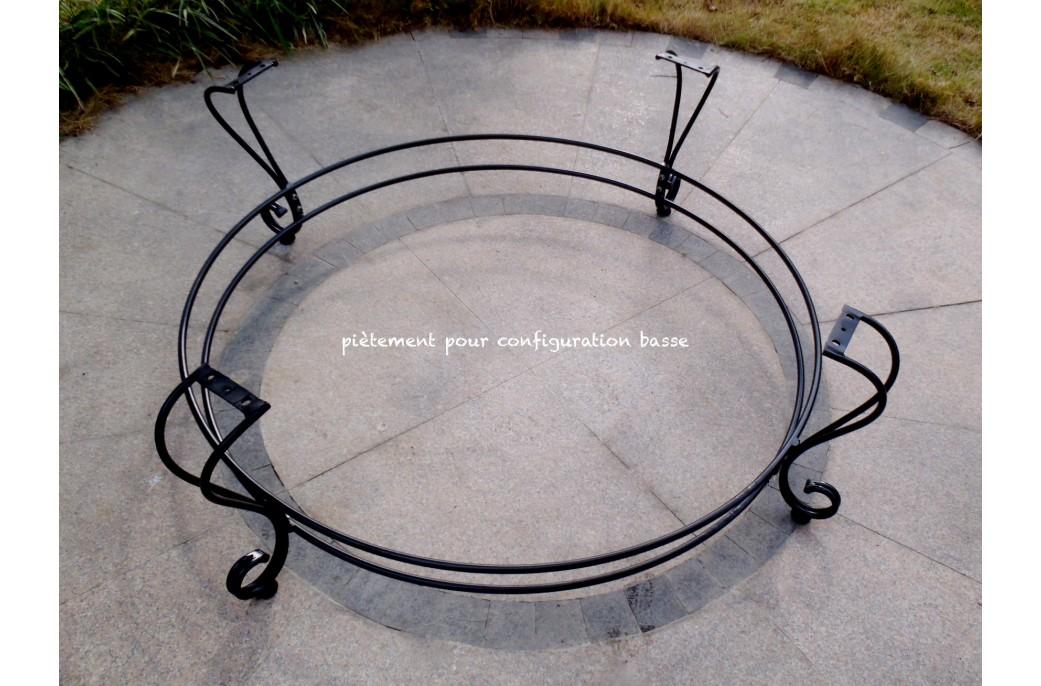 Table de jardin Ronde en mosaïque de marbre 160cm 125cm - IMHOTEP