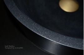 Vasque en pierre naturelle vrai granit noir 40x11 LEAF SHADOW