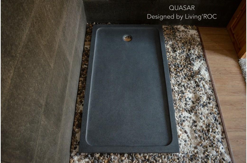 grand receveur de douche 160x90 en pierre l 39 italienne quasar. Black Bedroom Furniture Sets. Home Design Ideas
