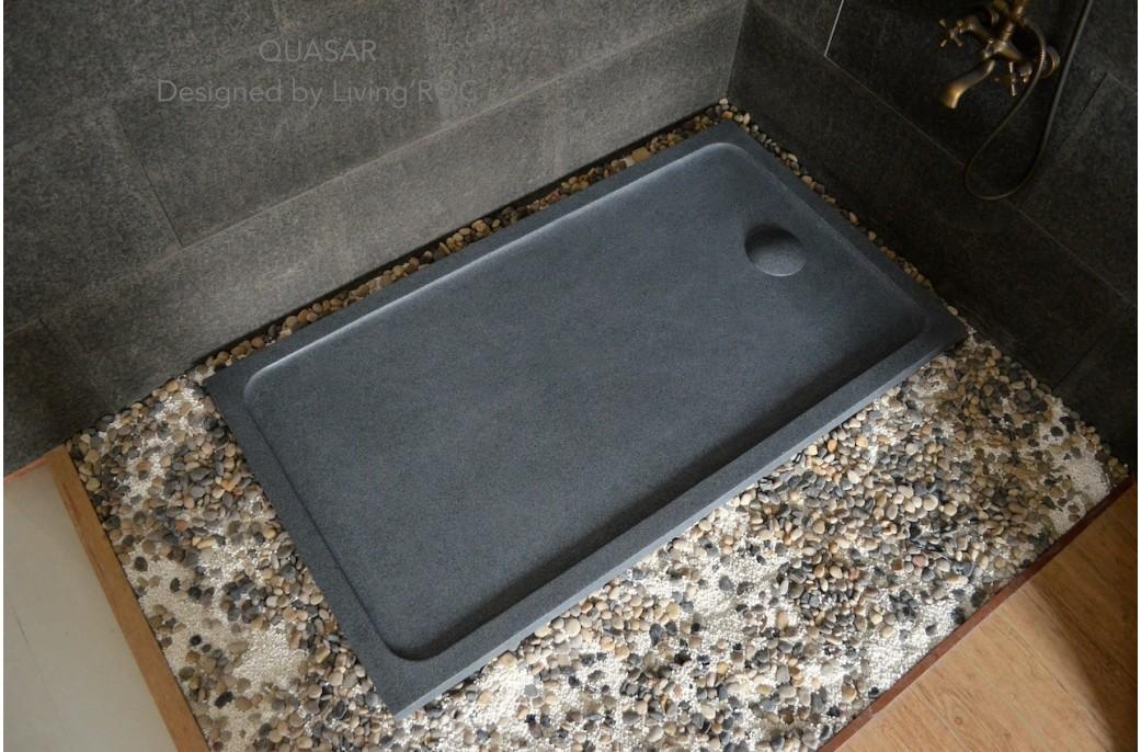 Grand receveur de douche 160x90 en pierre à l\'italienne - QUASAR