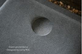 Receveur de douche en pierre à l'italienne 120X100 granit gris KIAORA