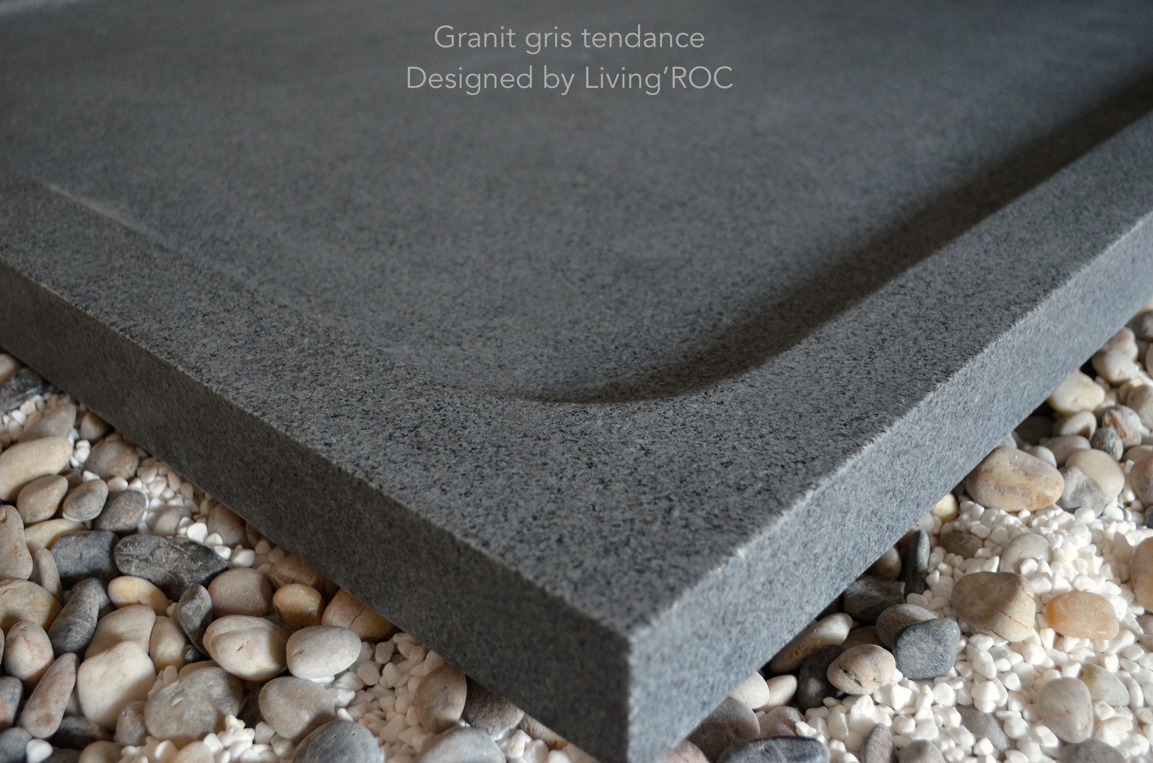 receveur de douche en pierre l 39 italienne 120x100 granit gris kiaora