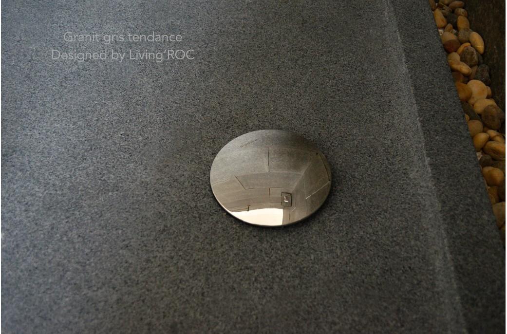 Receveur de douche en pierre PALAOS Granit taillé dans la masse 120x80cm
