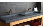 double vasque en pierre fole 39 ge granit v ritable haut de gamme 160x50 living 39 roc. Black Bedroom Furniture Sets. Home Design Ideas
