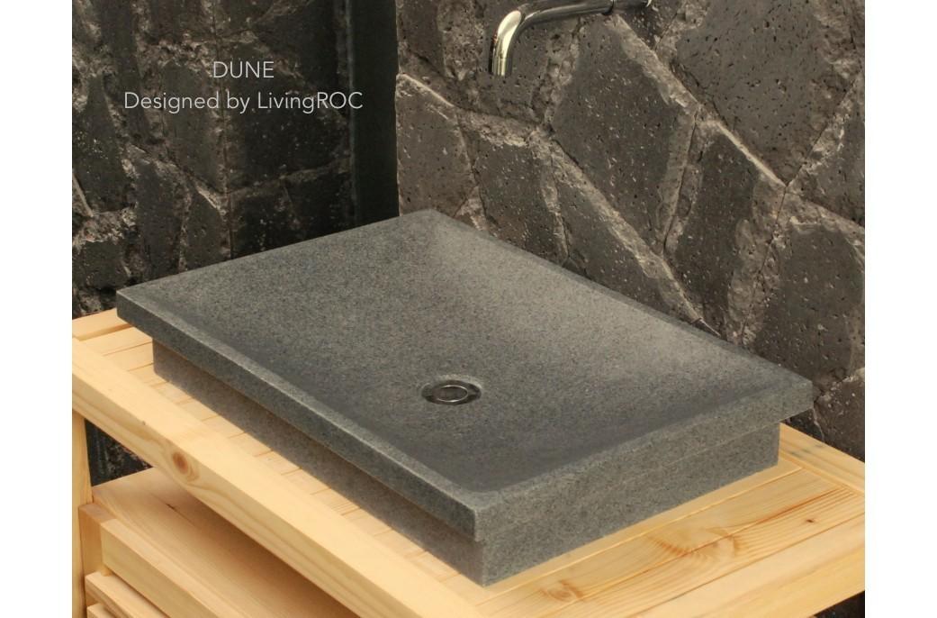 60x40 Vasque en pierre granit de salle de bain à poser - DUNE