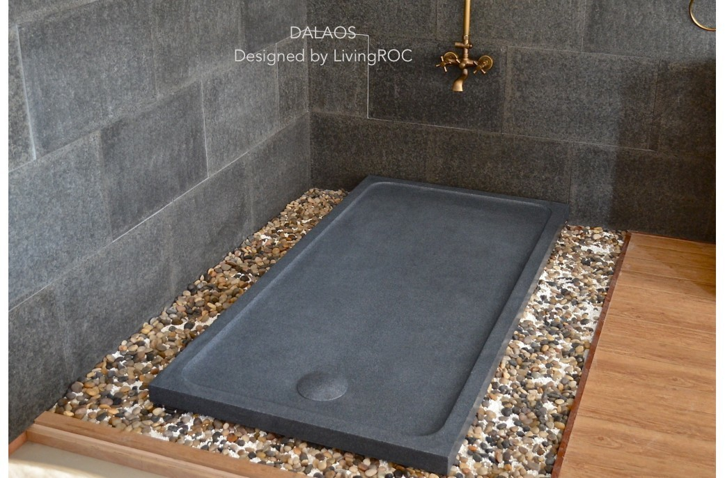 receveur de douche en pierre dalaos l 39 italienne granit. Black Bedroom Furniture Sets. Home Design Ideas