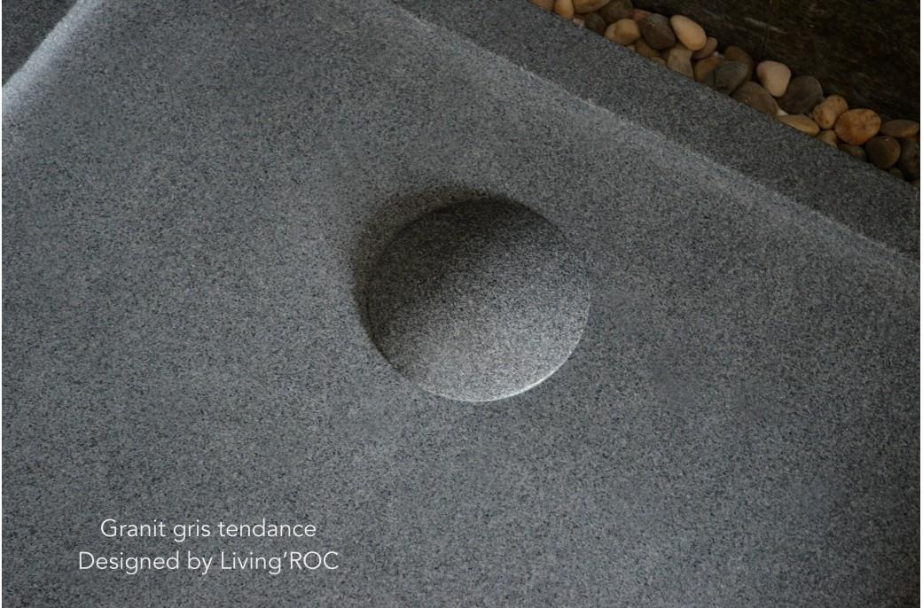 Receveur de Douche pierre Granit Déco véritable 140x100 cm - PALM