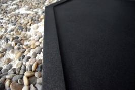 Receveur de douche à l'italienne 140x100 granit noir PALM SHADOW