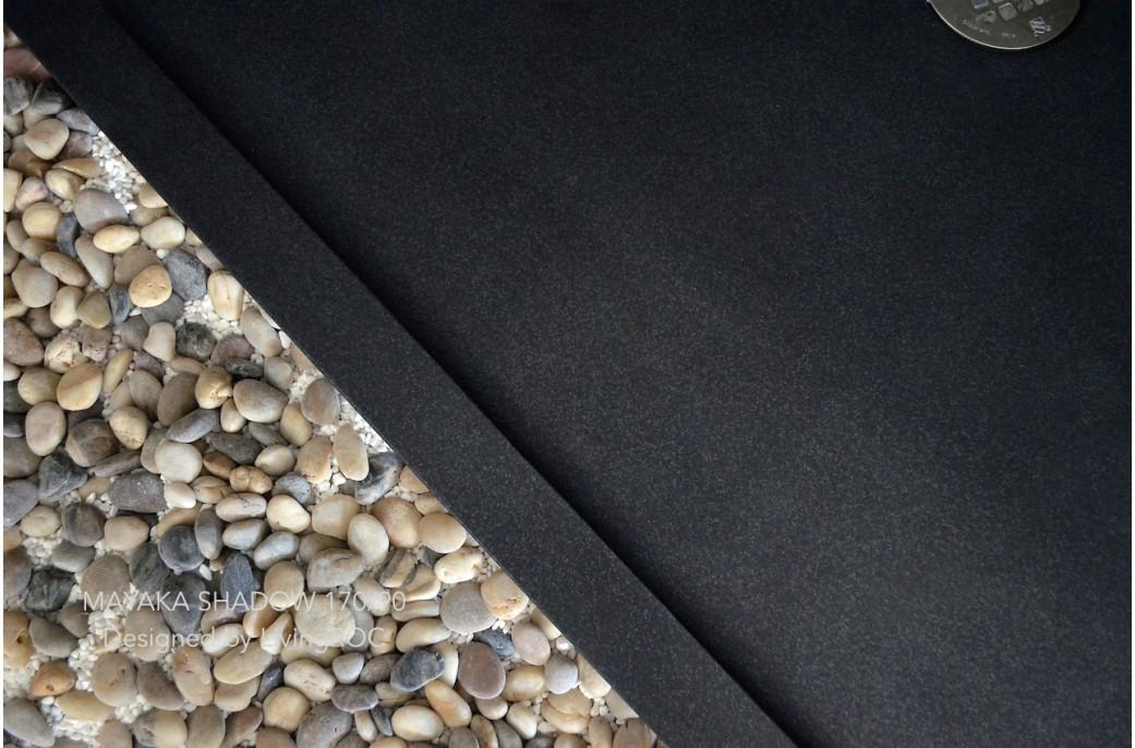 receveur de douche en pierre mayaka l 39 italienne granit grande taille 170x90 mayaka shadow. Black Bedroom Furniture Sets. Home Design Ideas