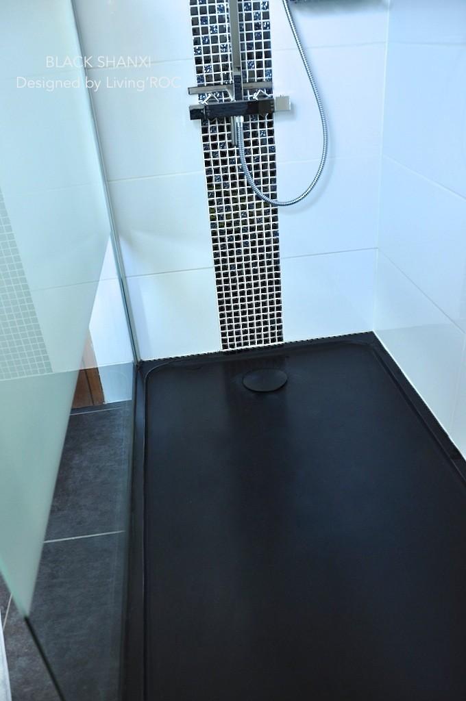 Receveur De Douche 120X80 à L'italienne Vrai Granit Noir