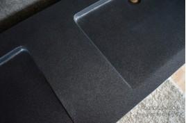 Double vasque en pierre 160x50 granit noir Luxe FOLEGE SHADOW