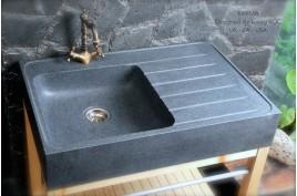 120x60cm vier en pierre granit pour cuisine 2 cuves gouttoir besso. Black Bedroom Furniture Sets. Home Design Ideas