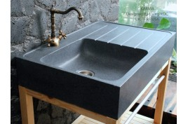 Évier en pierre granit véritable spécial cuisine 90x60 NORWAY