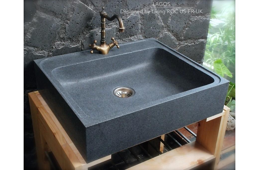 70x60 vier en pierre pour cuisine timbre office lagos for Evier ancien cuisine