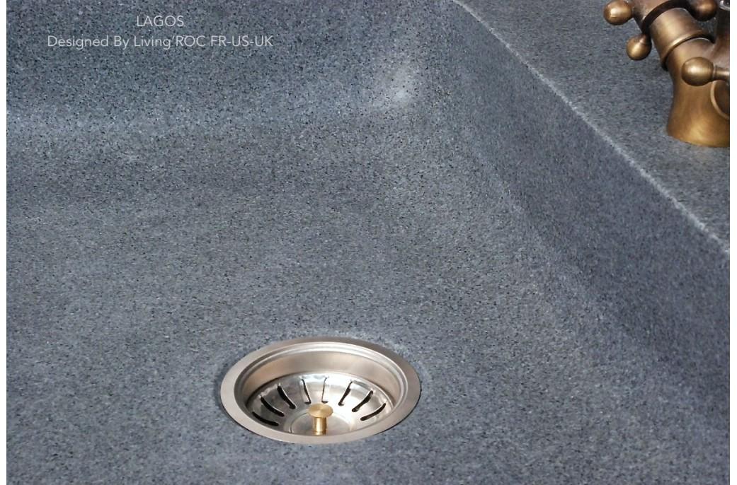 70x60 Évier en pierre pour cuisine Timbre office - LAGOS