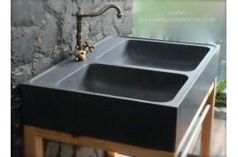 Évier en pierre granit véritable Spécial cuisine 90x60 KARMA