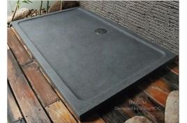 Receveur de douche pierre 140x90 granit véritable SPACIUM